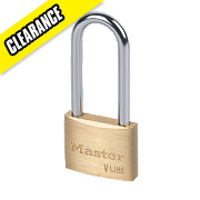 Master Lock Brass Long Shackle Padlock 50mm